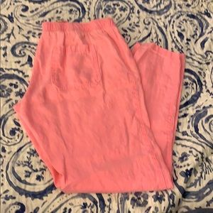 Lilly Pulitzer pink linen pant Size L